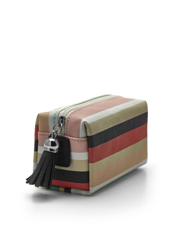 Striped Cosmetic Case, Multi, hi-res