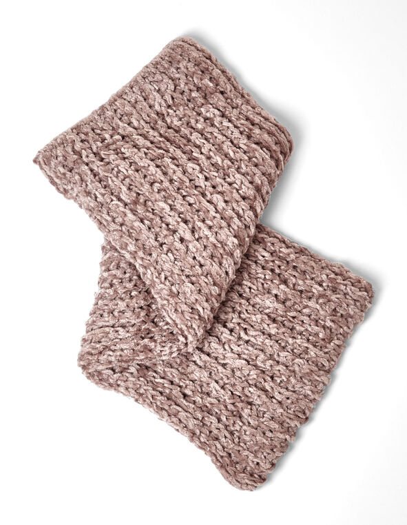 Rose Pink Chenille Infinity Scarf, Pink, hi-res