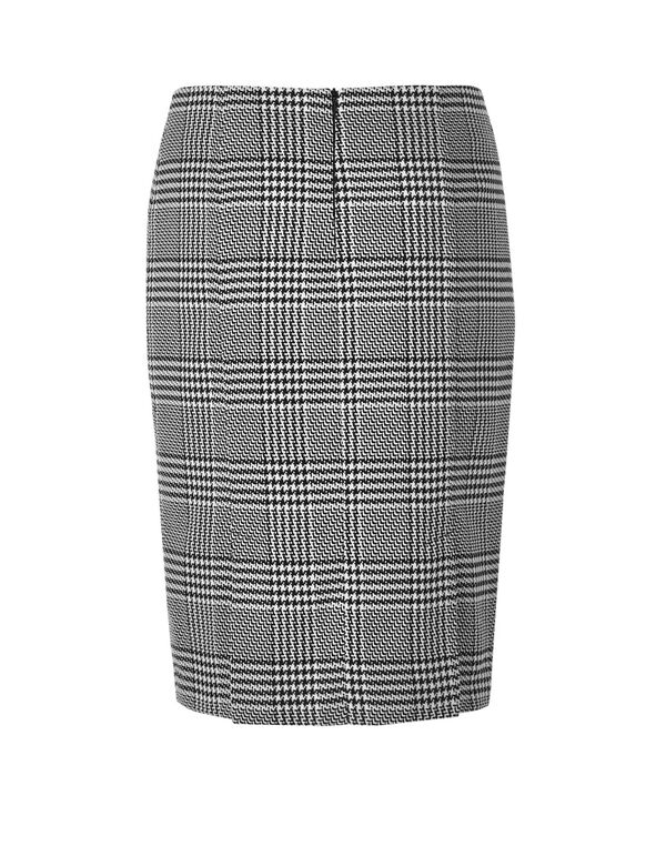 Houndstooth Pencil Skirt, Houndstooth, hi-res