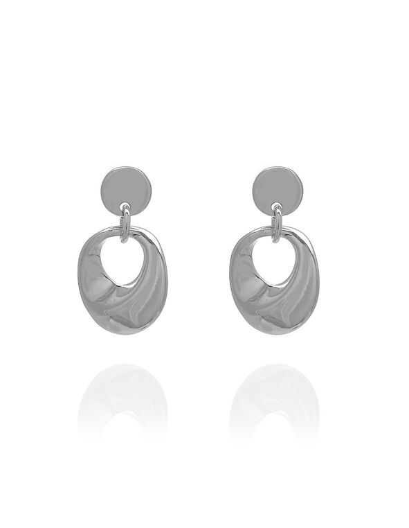 Silver Drop Earring, Silver, hi-res