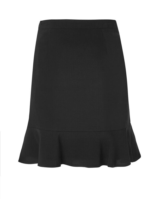 Black Ruffle Skirt, Black, hi-res