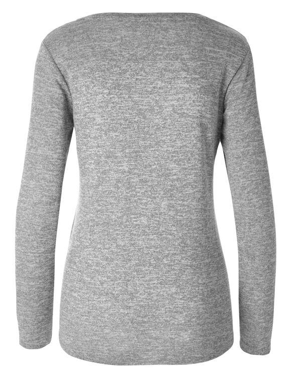 Grey Printed Hacchi Top, Grey, hi-res