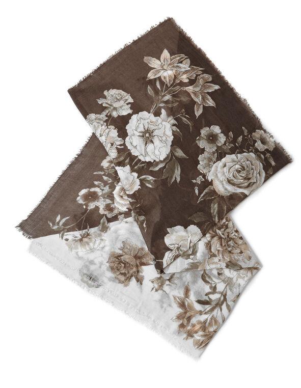 Neutral Bouquet Floral Scarf, Neutral, hi-res