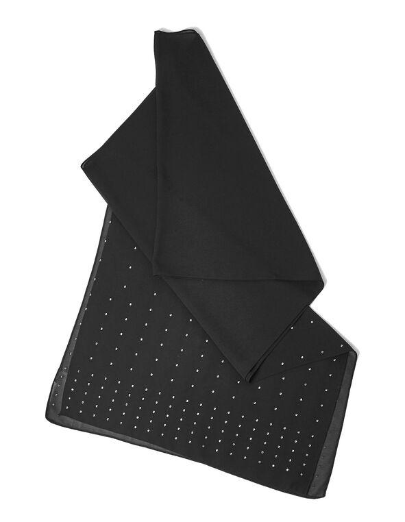 Black Sheer Glitter Wrap, Black, hi-res