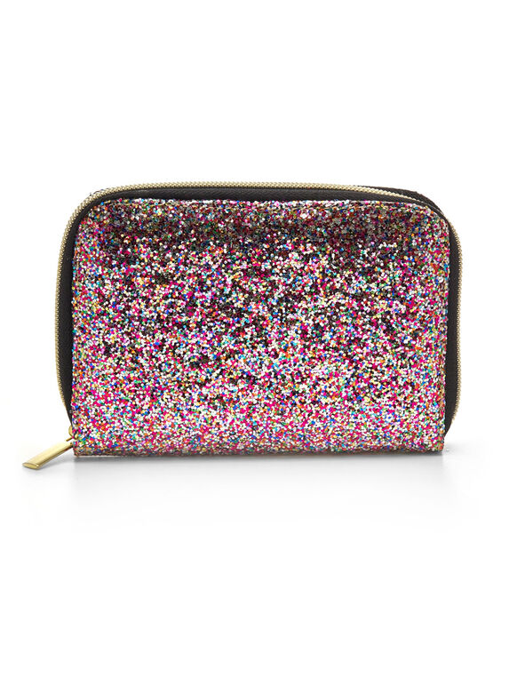 Glitter Travel Size Brush Set, Black, hi-res