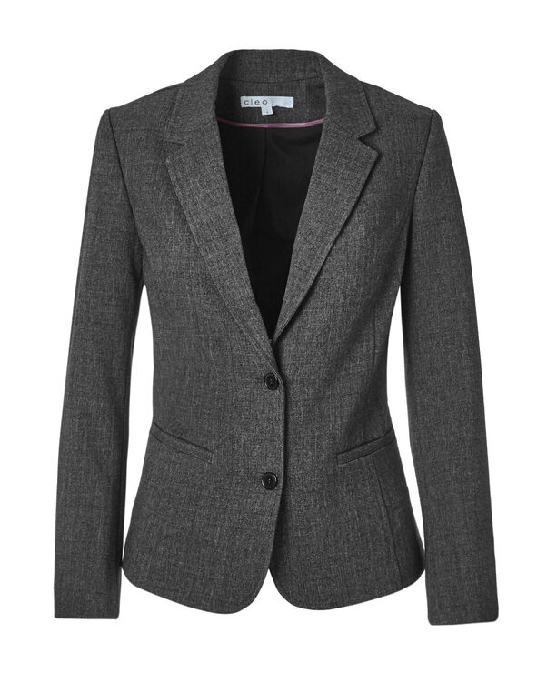 Charcoal Suiting Blazer, Charcoal, hi-res