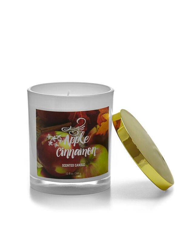 Apple & Cinnamon Candle, White, hi-res