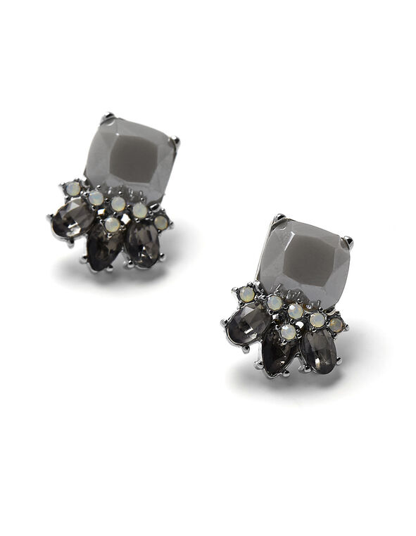 Grey Small Stud Earring, Light Grey, hi-res