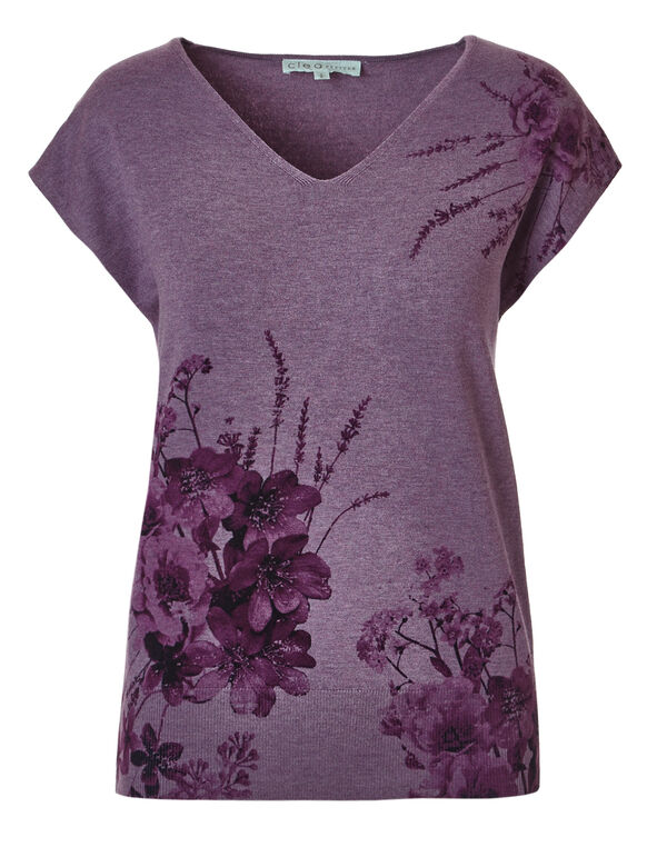 Orchid Short Sleeve Sweater, Orchid, hi-res