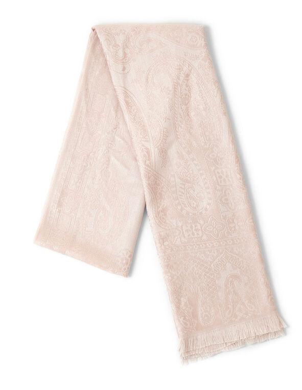 Pink Floral Pashmina, Pink, hi-res