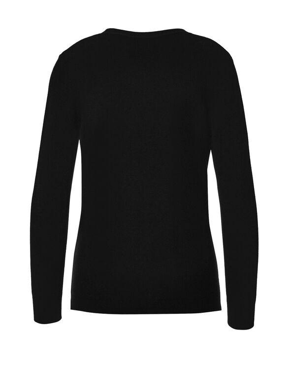 Black Essential Cardigan, Black, hi-res