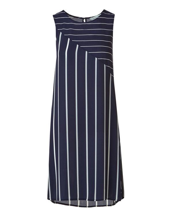 Navy Striped Tunic Blouse, Navy Stripe, hi-res