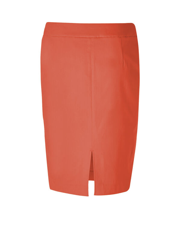 Coral Cleo Signature Pencil Skirt, Coral, hi-res