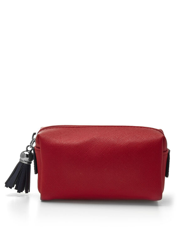 Red Cosmetic Case, Red, hi-res