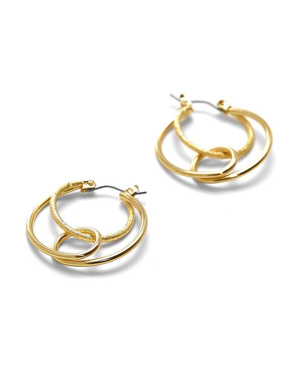 Gold Hoop Earring, Gold, hi-res