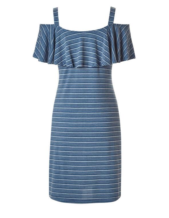 Navy Striped Summer Dress, Navy, hi-res