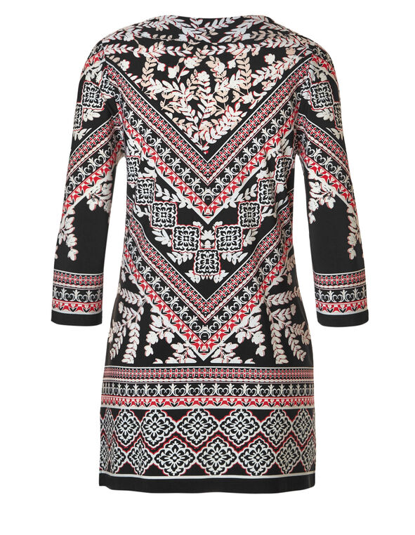 Pink Placement Print Tunic, Pink/Black, hi-res
