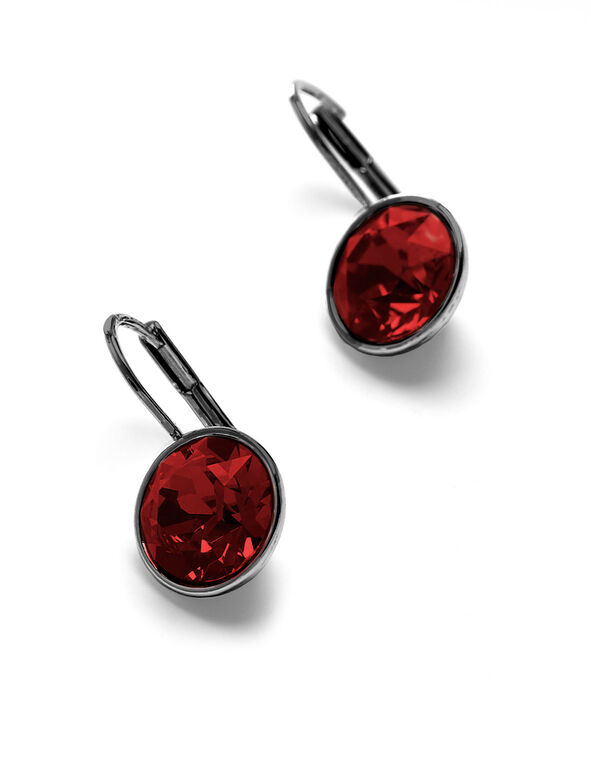 Siam Genuine Crystal Earring, Red, hi-res