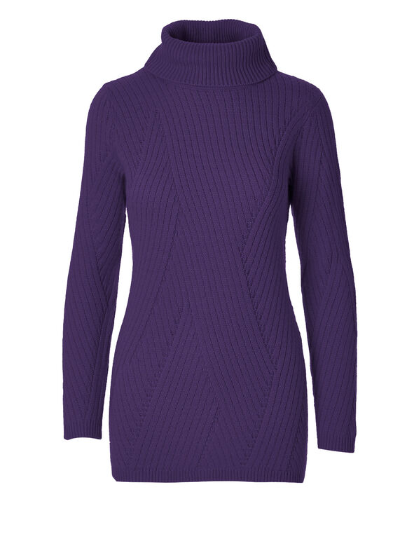 Grape Turtleneck Sweater, Grape, hi-res