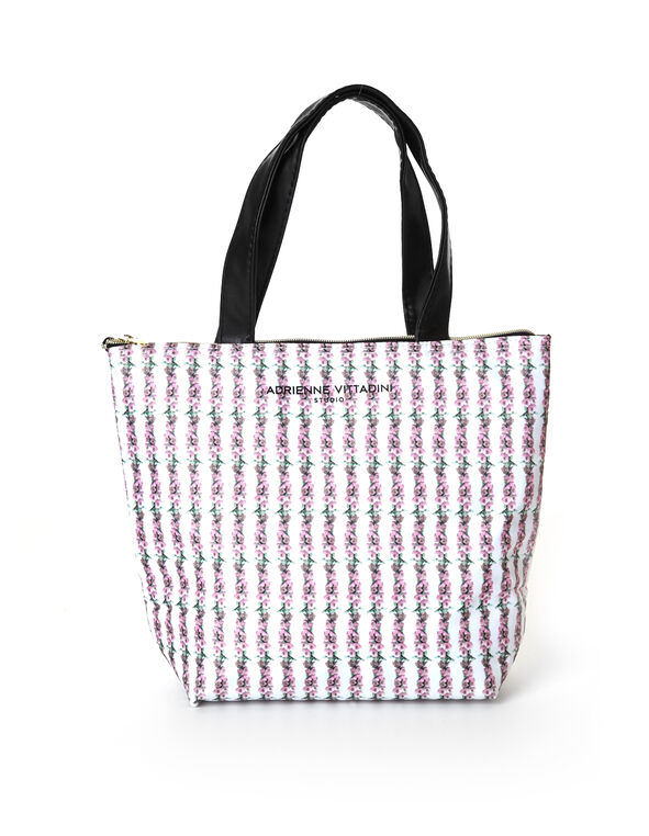 Pink Rose Lunch Tote, Pink, hi-res