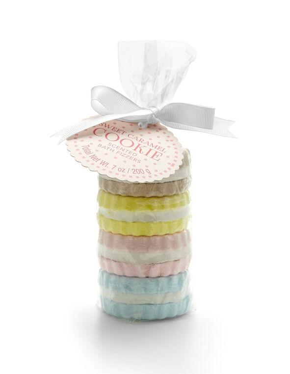 4 Pack Cookie Fizzers, Pink/Yellow/Green/Biscuit, hi-res