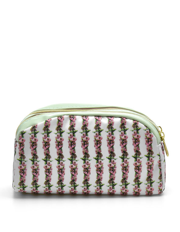 Pink Floral Cosmetic Case, Pink, hi-res