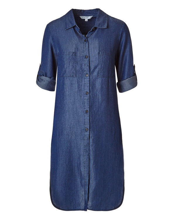 Chambray Tencil Tie Tunic, Chambray, hi-res