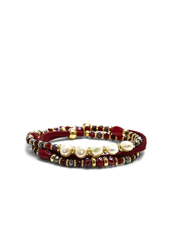 Red Convertible Bracelet, Red, hi-res