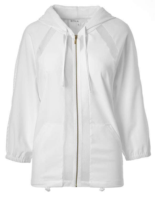 White Mesh Jacket, White, hi-res