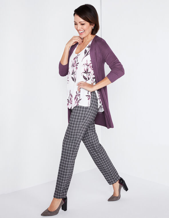Orchid Long Cardigan, Orchid, hi-res