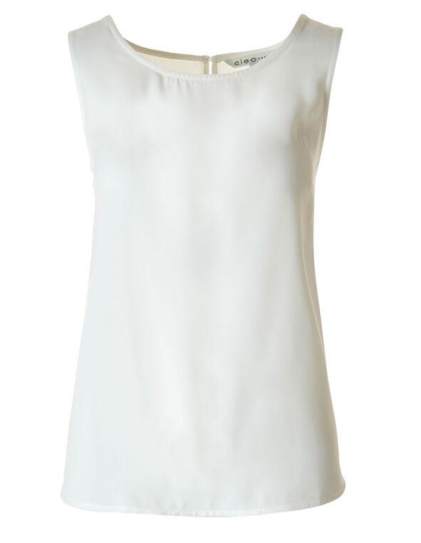 Ivory Basic Blouse, Ivory, hi-res