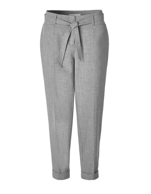 Grey Paper Bag Ankle Pant, Grey, hi-res