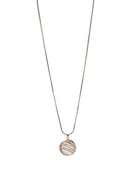 Ivory Cat Eye Pendant Necklace, Rose Gold/Ivory, hi-res