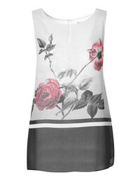 Floral Placement Printed Blouse