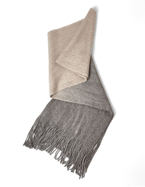 Neutral Ombre Oblong Scarf, Neutral, hi-res