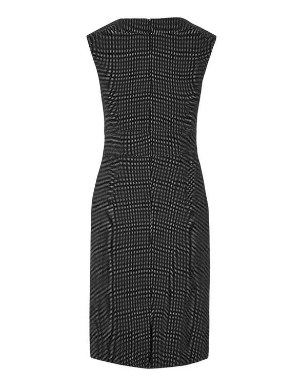 Dotted Sheath Dress, Black/White, hi-res