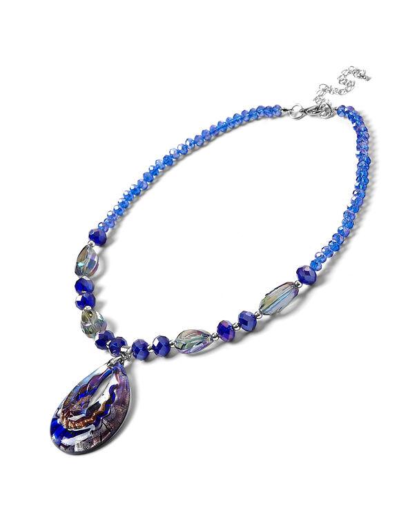 Cobalt Murano Glass Necklace, Cobalt, hi-res