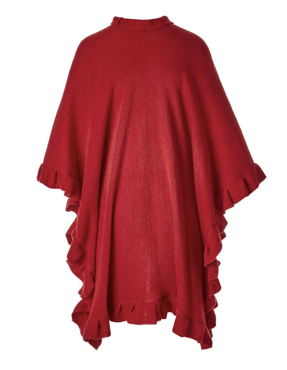Red Ruffle Wrap, Red, hi-res