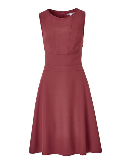 Clay Fit and Flare Dress, Clay, hi-res