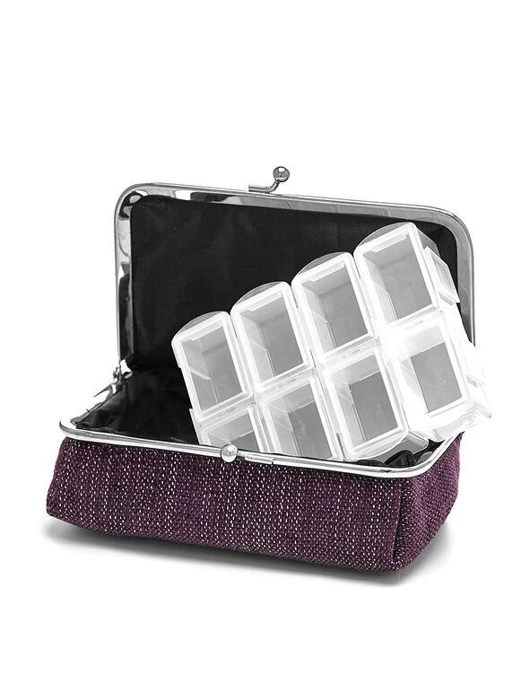 Purple Kisslock Pill Case, Purple, hi-res