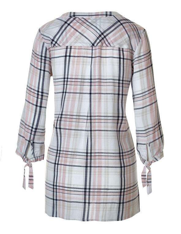 Pink Plaid Tunic, Pink Plaid, hi-res