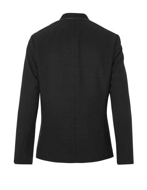 Black Piping Fashion Blazer, Black, hi-res
