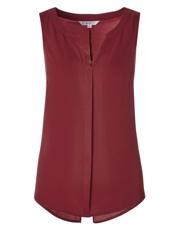 Red Shell Blouse, Red, hi-res