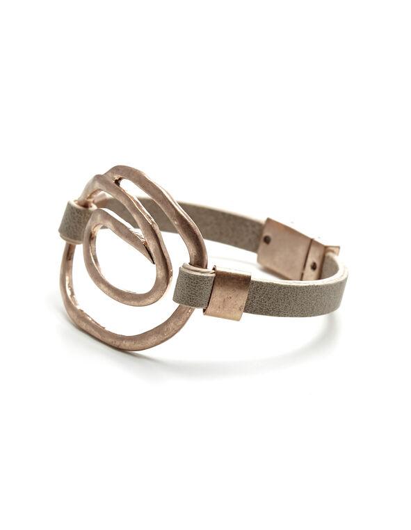 Pink Swirl Wrap Bracelet, Pink/Rose Gold, hi-res