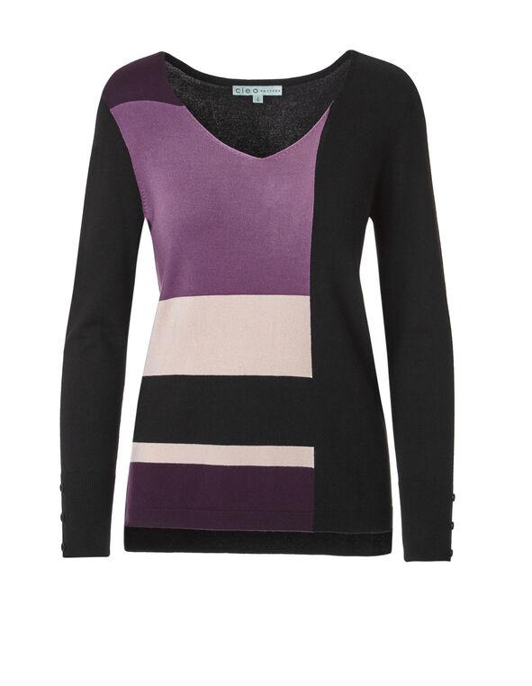 Window Pane V-Neck Sweater, Window Pane, hi-res