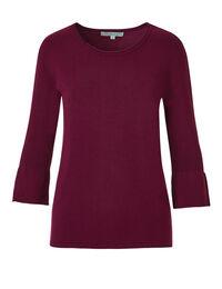 Claret Bell Sleeve Sweater