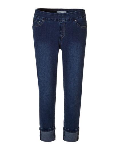 Medium Wash Cuffed Ankle Jean, Medium Wash, hi-res
