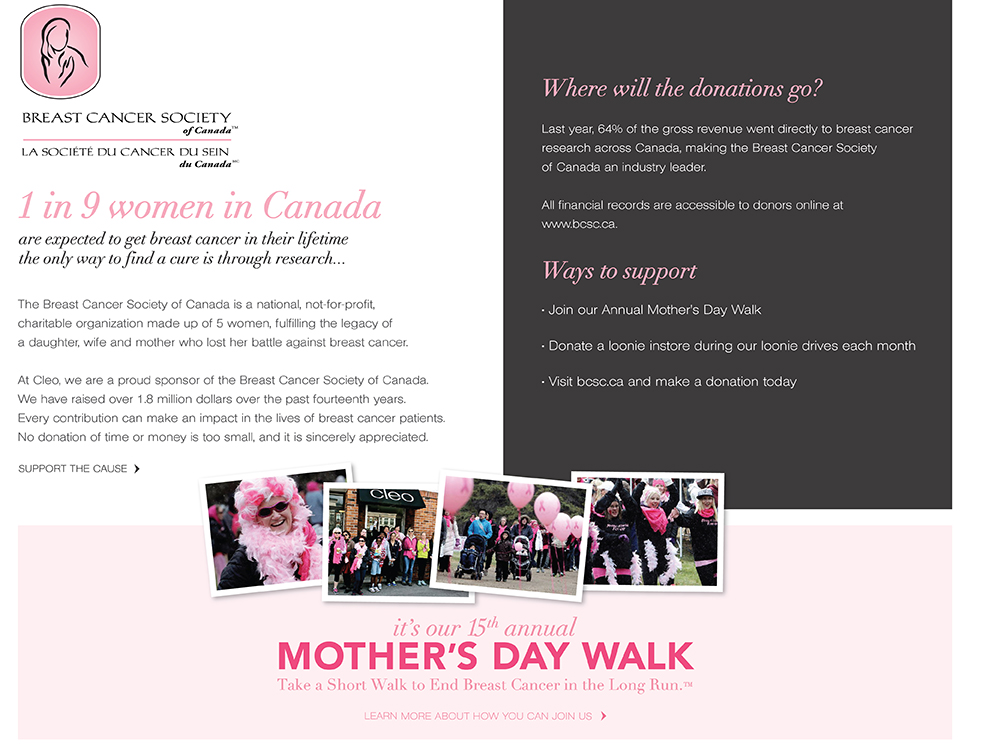 The Breast Cancer Society of Canada, get involved
