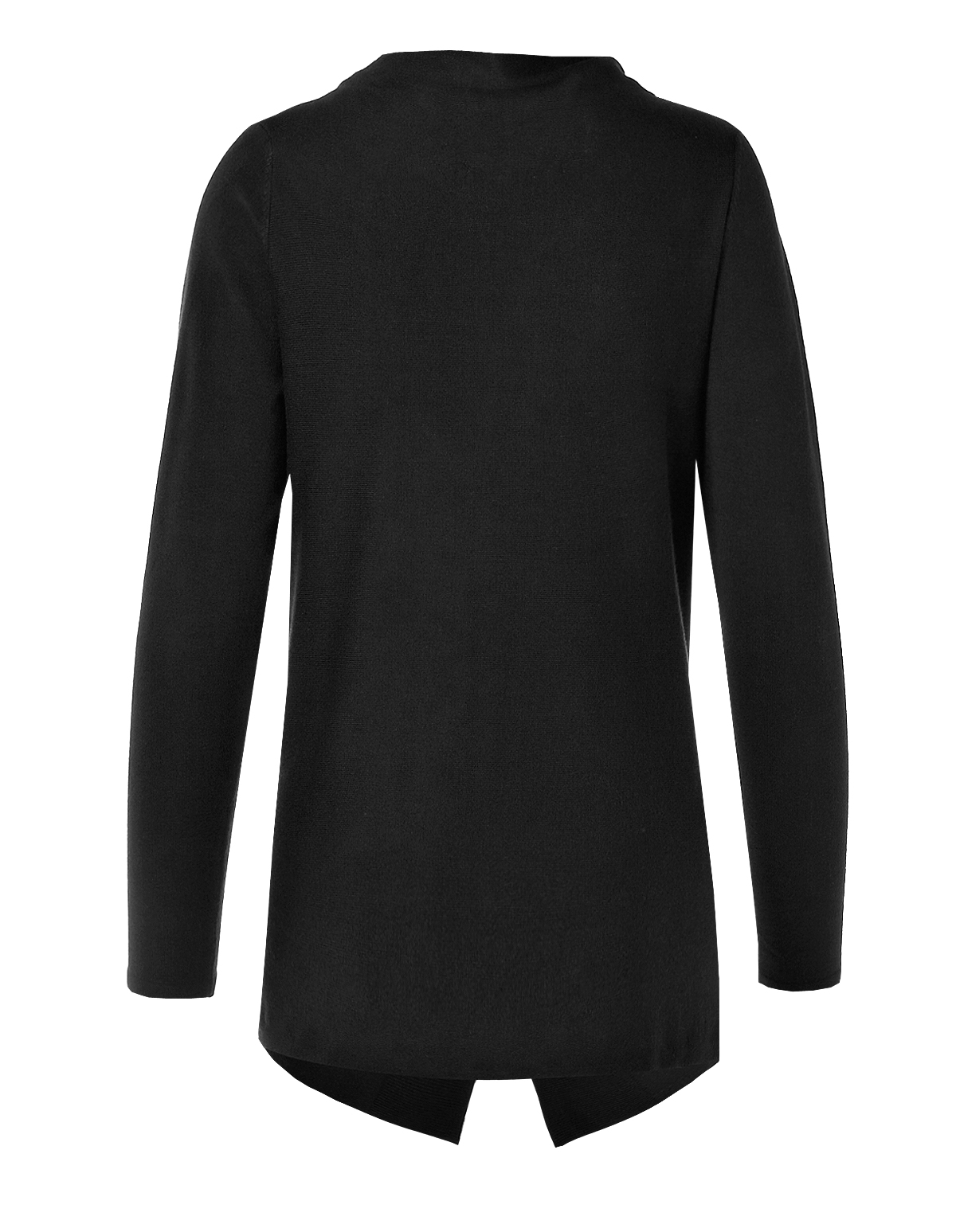Black Wrap Sweater | Cleo