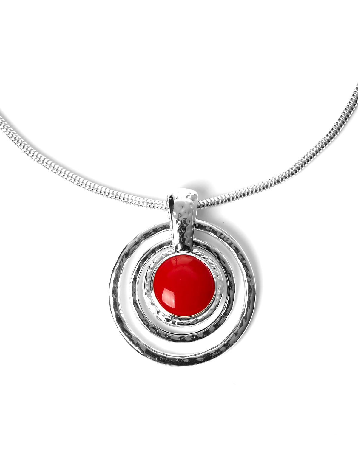 Red reversible pendant necklace cleo red pendant necklace redblack hi res aloadofball Gallery